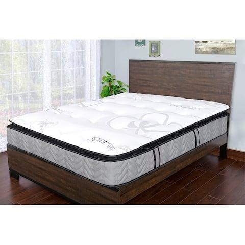 Sleep Therapy Comfort Sleep Natural Plush Pillow-Top Mattress, Queen