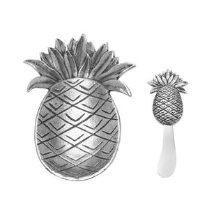 Towle Living Pineapple Dish And Spreader Set