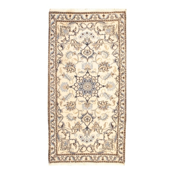 Persian Hand Knotted Nain Wool And Silk Area Rug Ebth: Shop Pasargad DC Genuine Persian Nain Hand-Knotted Lamb's