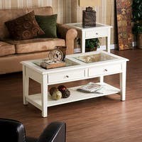 Clay Alder Home Gold Brook White Cocktail Display Table