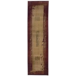 "Copper Grove Aspromonte Red/ Beige Area Rug - 2'7"" x 9'1"" Runner"