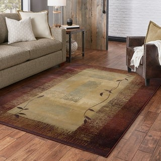 "Copper Grove Aspromonte Transitional Red/ Beige Area Rug - 6'7"" x 9'1"""