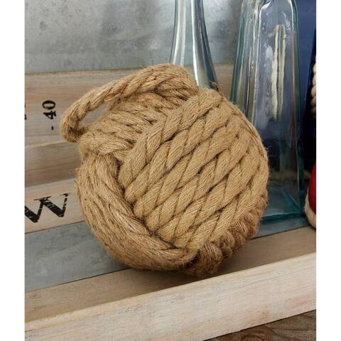 The Gray Barn Hogback Assorted Beige and Pearl White Rope Doorstops (Set of 2)