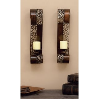 Copper Grove Larkins Bronze Open Design Wall Sconce