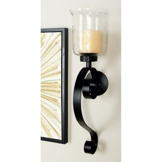 Copper Grove Fossli Metal Glass Wall Sconce (27 inches H x 9 inches W)