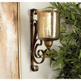 Traditional 20 Inch Wall Mounted Hurricane Candle Sconce by Studio 350