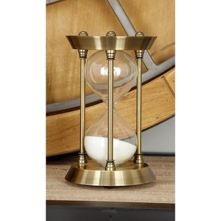 Copper Grove Lobata Metal/Glass 7-inch x 4-inch Quarter Hourglass