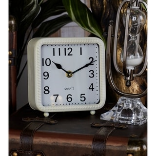 Porch & Den Waccamaw Black, White, and Grey Metal Table Clocks (Pack of 3)
