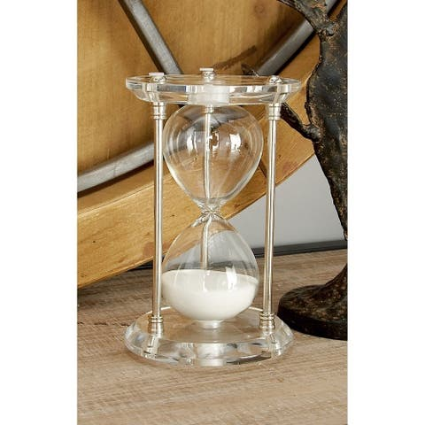 Strick & Bolton Oehlen Silver Acrylic and Metal Sand Timer
