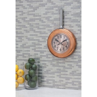 Copper Grove Artlish Metal Copper Wall Clock 10 inches wide, 17 inches high