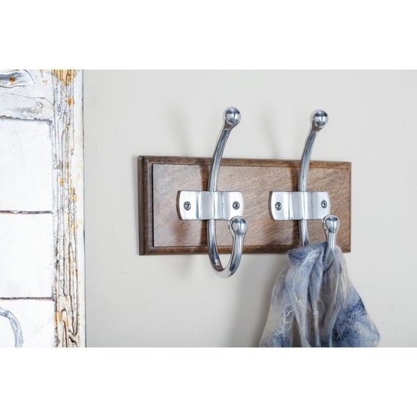 The Gray Barn Hogback Wood Aluminum Wall Hook 11 inches wide, 8 inches high