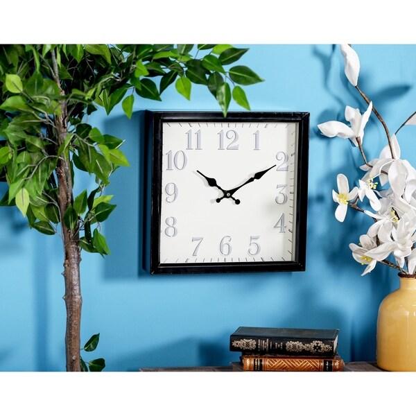 Porch & Den Waccamaw Contemporary Iron White Analog Wall Clock
