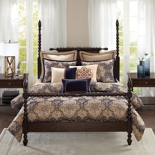Link to Madison Park Signature Wellington Blue Comforter Set Similar Items in Comforter Sets
