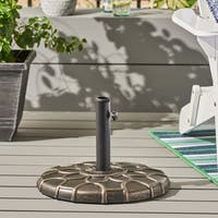Caruso Outdoor 37-pound Concrete Circular Umbrella Base by Christopher Knight Home