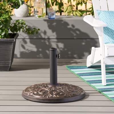 Ruth Outdoor 60lb Concrete Circular Umbrella Base by Christopher Knight Home