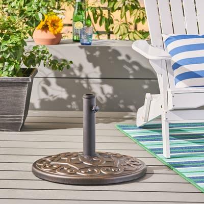 Clifton Outdoor 57lb Concrete Circular Umbrella Base by Christopher Knight Home