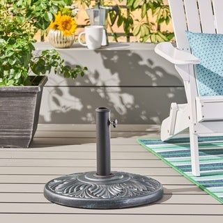High Quality Rufus Outdoor 55 Pound Concrete Circular Umbrella Base By Christopher  Knight Home