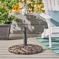 Calvin Outdoor 66-pound Concrete Circular Umbrella Base by Christopher Knight Home