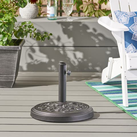 Tyler Outdoor 33-pound Concrete Circular Umbrella Base by Christopher Knight Home