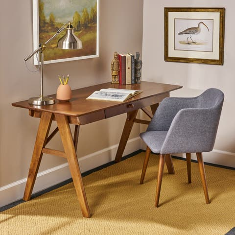 Vienna Modern Faux Wood Desk with Veneer by Christopher Knight Home
