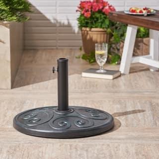 Amos Outdoor 57lb Concrete Circular Umbrella Base by Christopher Knight Home - N/A