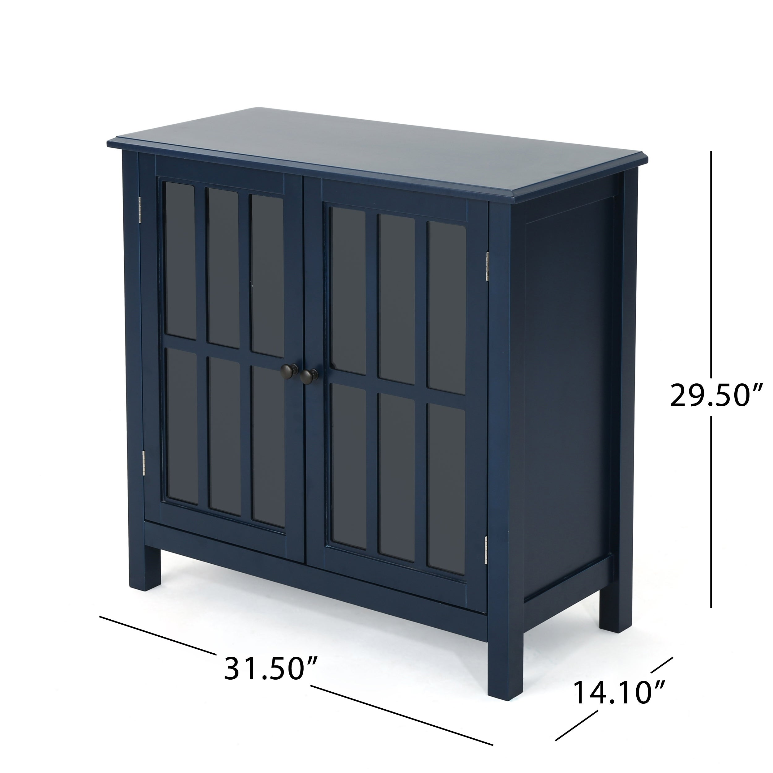 Shop Idris Traditional Wooden Cabinet With Glass Doors By