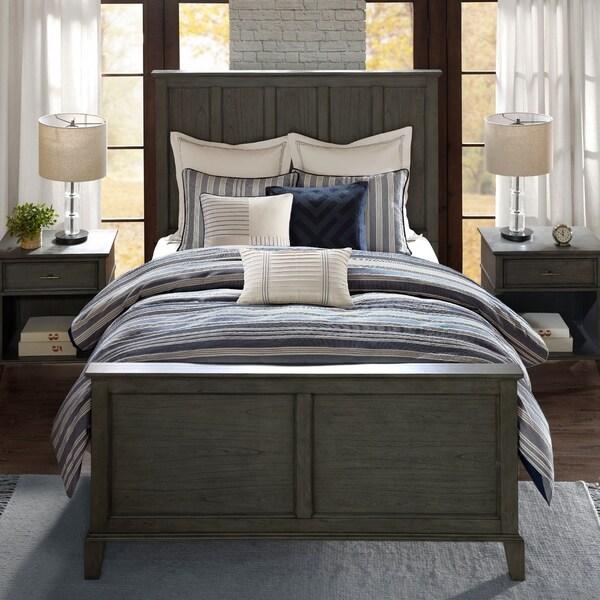 Madison Park Signature Farmhouse Blue Comforter Set