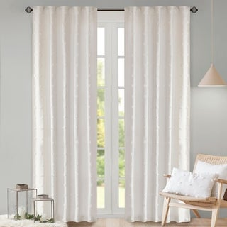 Urban Habitat Maize Cotton Jacquard Rod Pocket Single Window Curtain Panel (As Is Item)