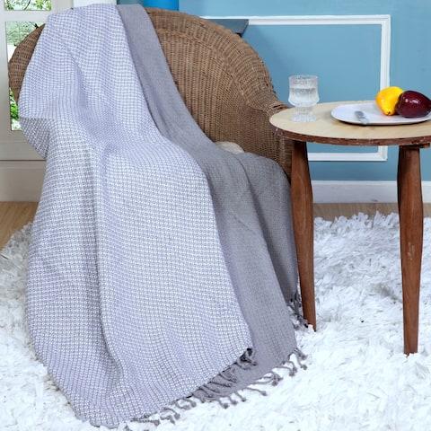 Affinity Linens Mosiac Cotton Throw ( Set of 2)