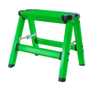 AmeriHome Lightweight Single Step Aluminum Step Stool Neon Green