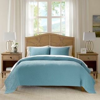 Madison Park Signature Valencia Aqua Cotton Oversized Coverlet