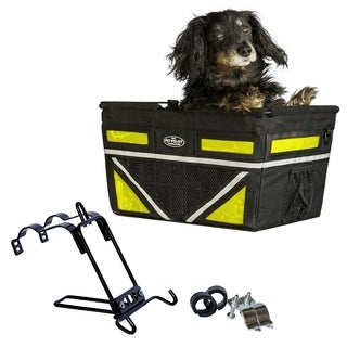 Travelin K9 2018 Pet Pilot Max Dog Large Bike Basket - Neon Yellow