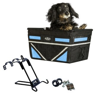 Travelin K9 2018 Pet Pilot Max Dog Large Bike Basket - Neon Blue