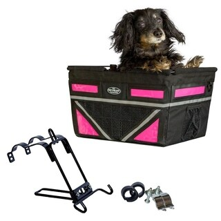 Travelin K9 2018 Pet Pilot Max Dog Large Bike Basket - Neon Pink