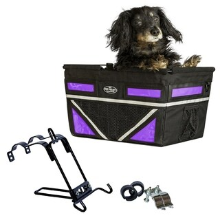 Travelin K9 2018 Pet Pilot Max Dog Large Bike Basket - Purple Passion