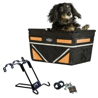 Travelin K9 2018 Pet Pilot Max Dog Large Bike Basket - Neon Orange