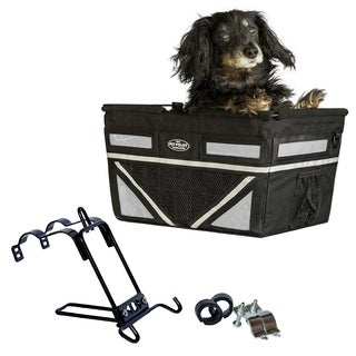 Travelin K9 2018 Pet Pilot Max Dog Large Bike Basket - Silver