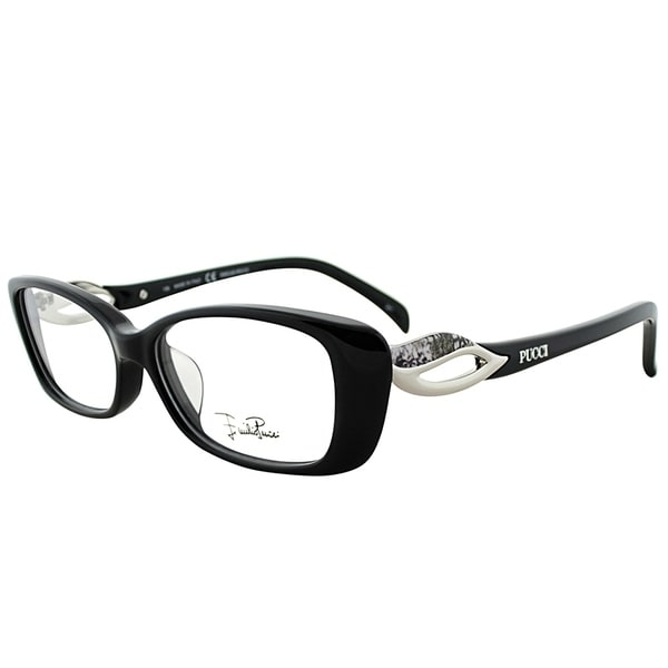 c34daf2f2a8a Shop Emilio Pucci Rectangle EP 2683 001 Women Ebony Frame Eyeglasses ...