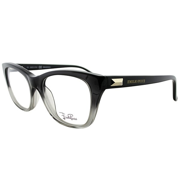 6509dfea71 Emilio Pucci Rectangle EP 2708 017 Women Black Transparent Frame Eyeglasses