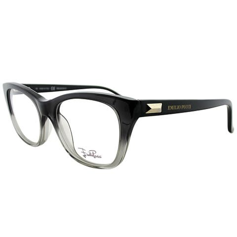 Emilio Pucci Rectangle EP 2708 017 Women Black Transparent Frame Eyeglasses