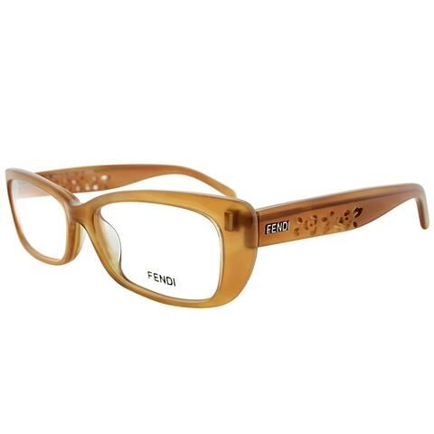 Fendi Rectangle FE 855 250 Women Light Brown Frame Eyeglasses
