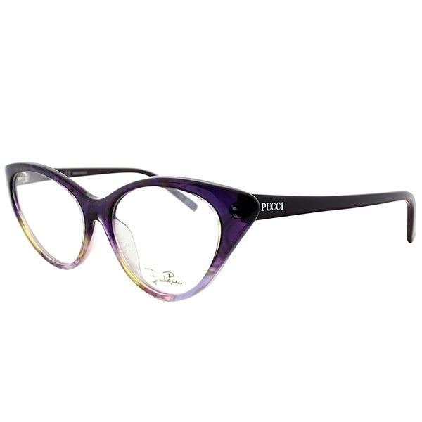 667b5d1411b7 Emilio Pucci Cat-Eye EP 2671 504 Women Ribbon Purple Frame Eyeglasses
