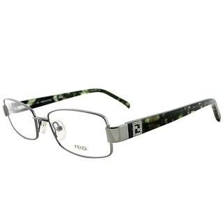 Fendi Rectangle FE 1029 035 Women Light Gunmetal Frame Eyeglasses