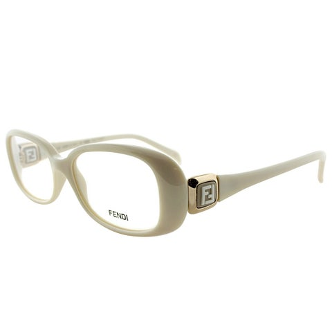 Fendi Rectangle FE 900 208 Women White Frame Eyeglasses