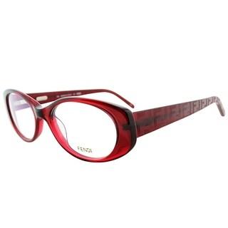 Fendi Oval FE 907 509 Women Burgundy Frame Eyeglasses