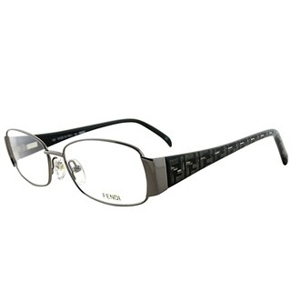 Fendi Rectangle FE 937 035 Women Gunmetal Frame Eyeglasses