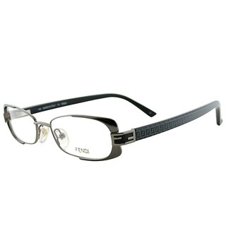 Fendi Rectangle FE 943 035 Women Dark Gunmetal Frame Eyeglasses