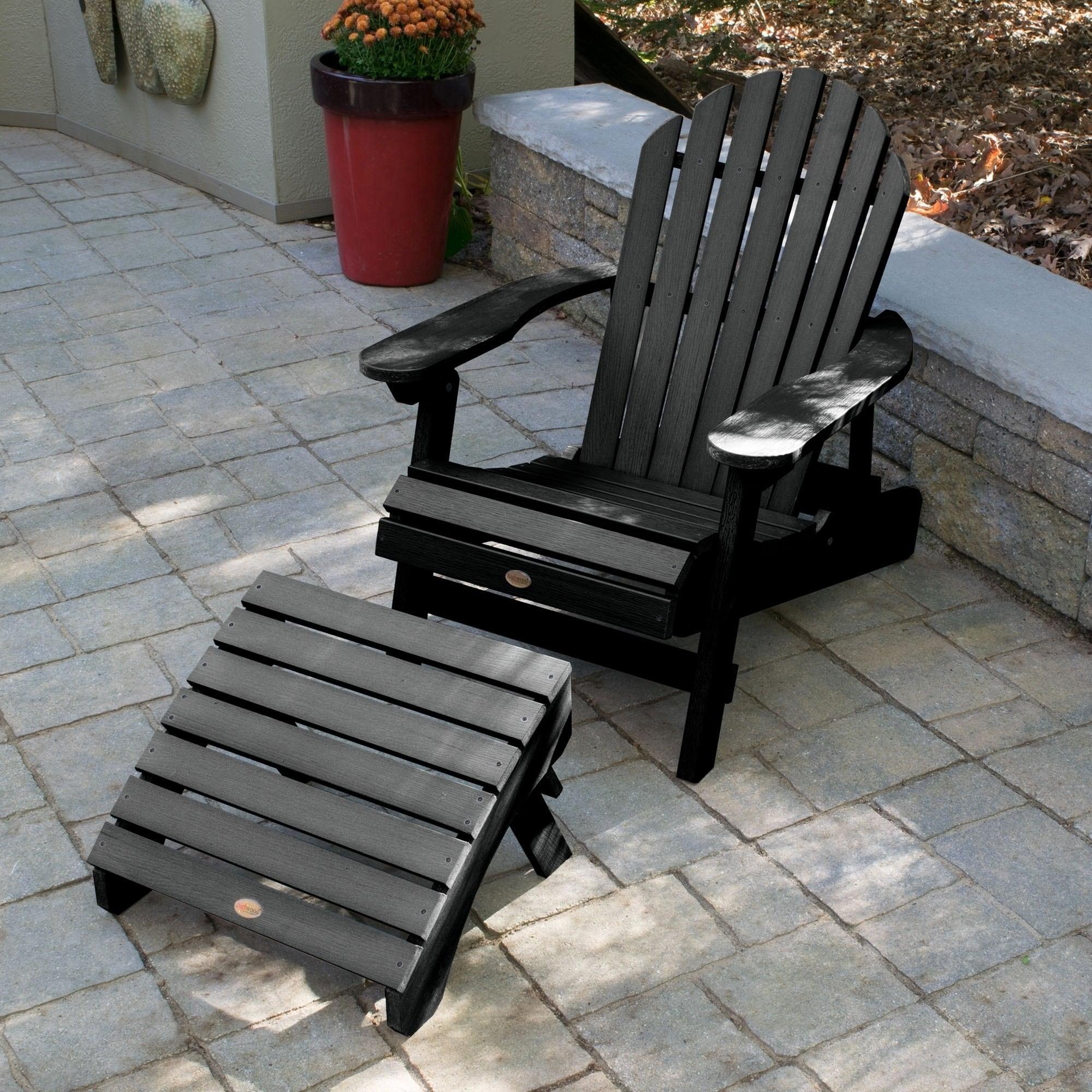 Hamilton Folding/Reclining Adirondack Chair W/ Folding Ottoman