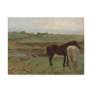 Link to Edgar Degas 'Horses in A Meadow' Canvas Art - Multi-color Similar Items in Canvas Art