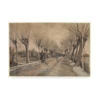 Vincent Van Gogh 'Road In Etten' Canvas Art - Multi-color